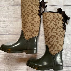 Coach Rain Boots Size 6B